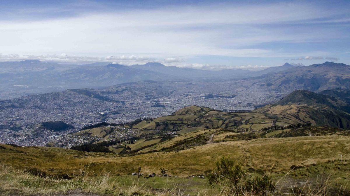 View from the Top, Hiking Pichincha, Quito, Ecuador