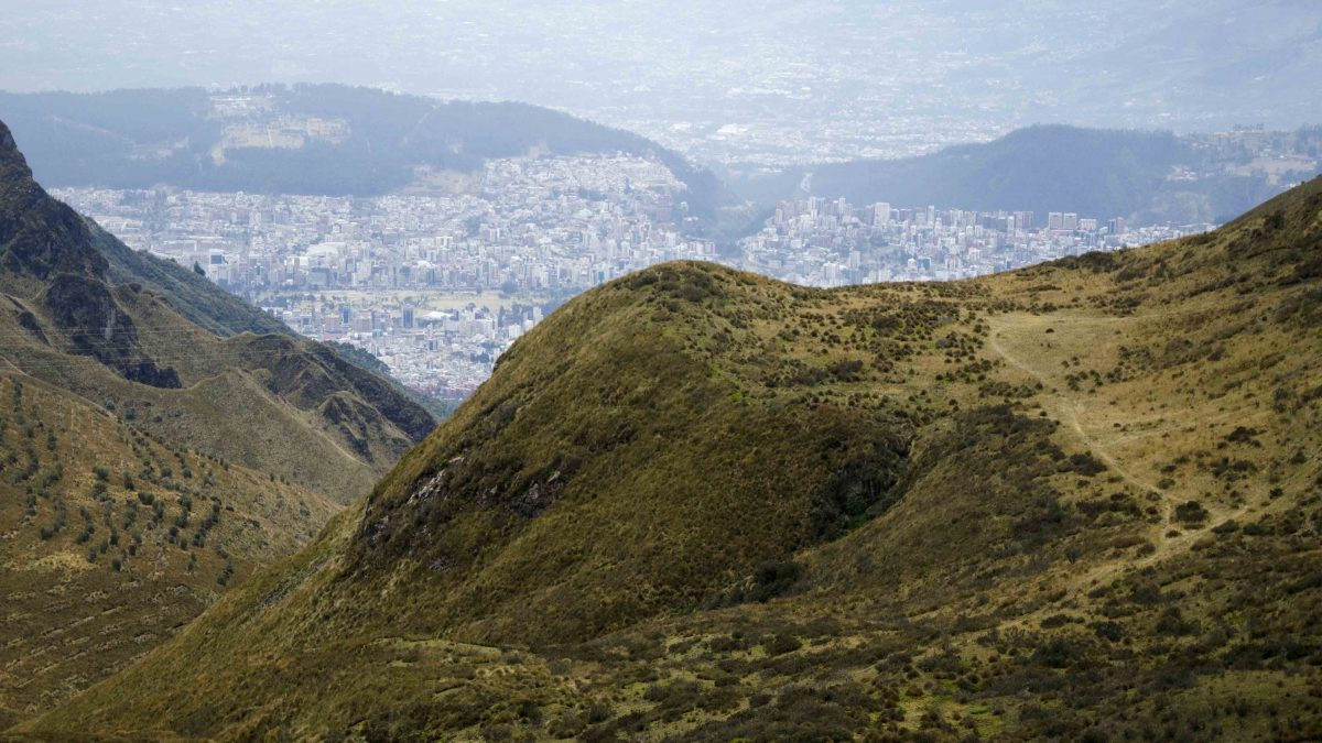 View of the City, Hiking Pichincha, Quito, Ecuador