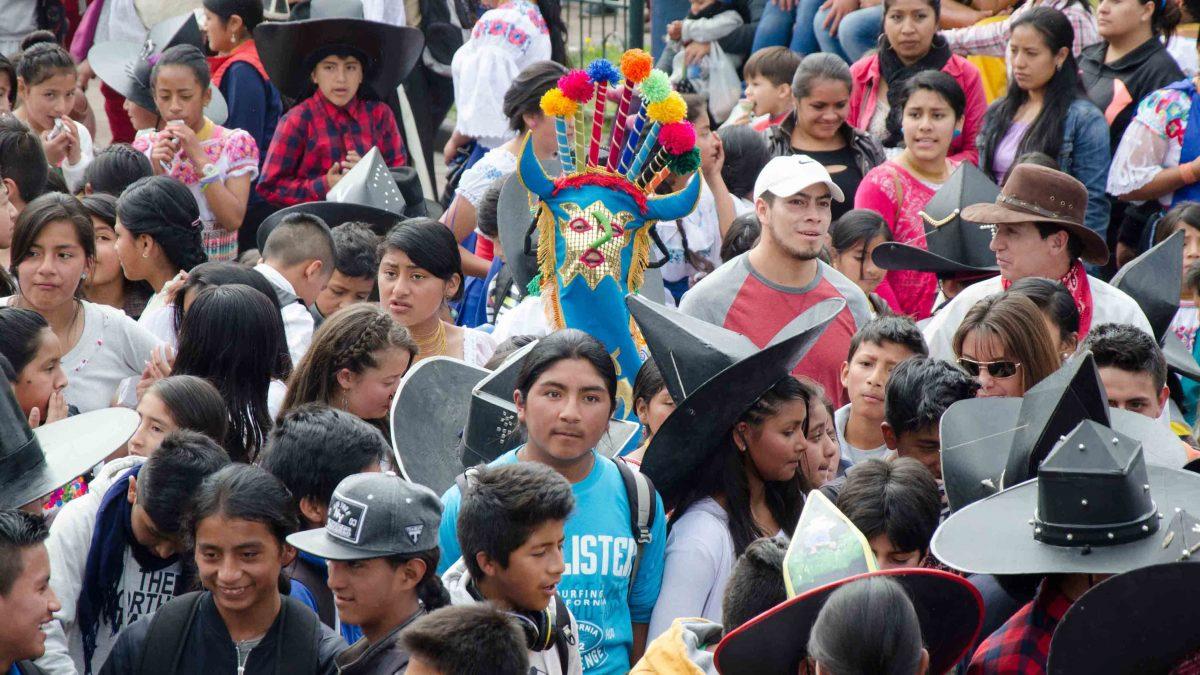 Aya Huma in the Crowd, Inti Raymi, Cotacachi, Ecuador
