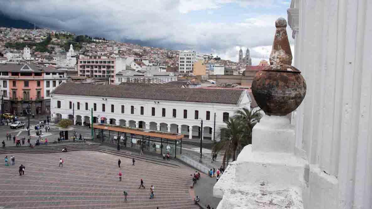 View from the domes of Iglesia Santo Domingo, Quito, Ecuador