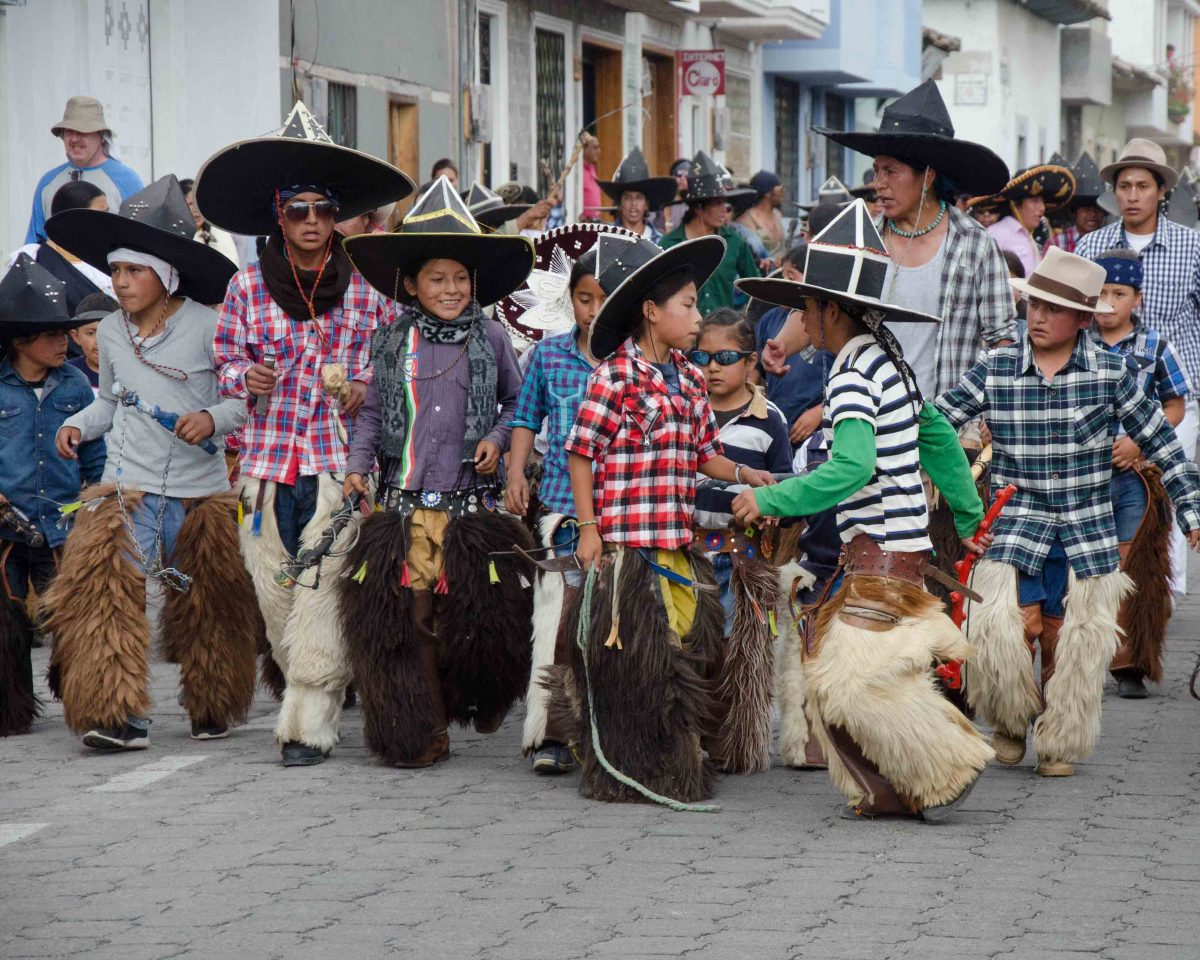 Taking of the Plaza, Children, Cotacachi, Ecuador| ©Angela Drake