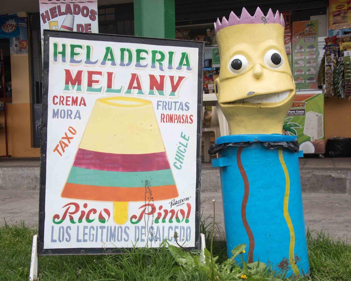 Bart Simpson in Salcedo, Ecuador