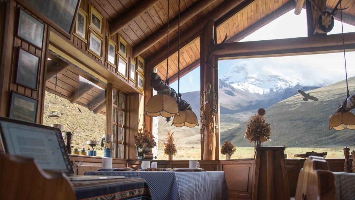 The Dining Room, Chimborazo Lodge, Chimborazo Province, Ecuador