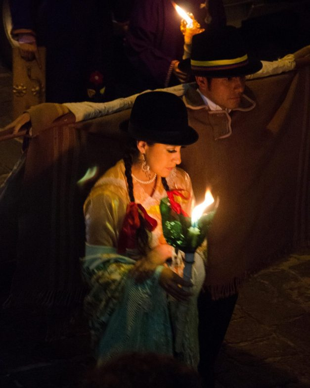 Holy Thursday Candlelight Procession, Quito, Ecuador