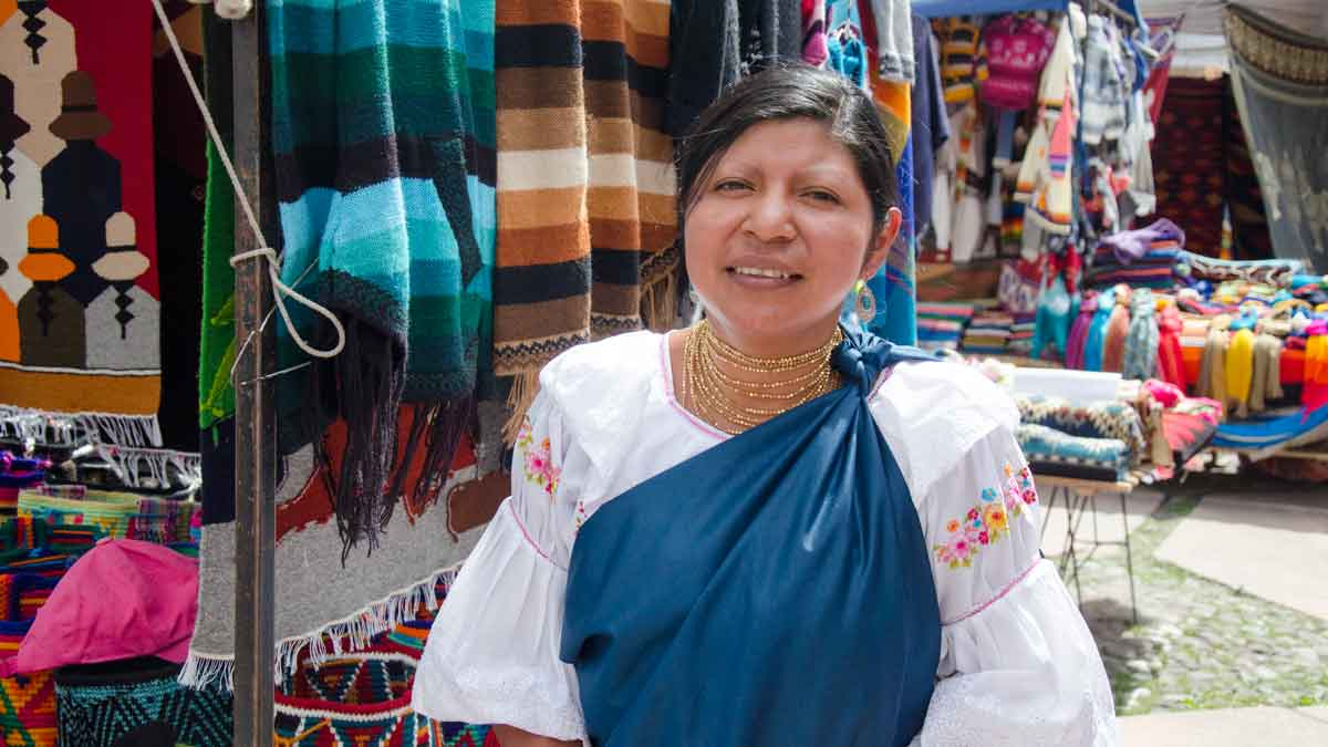 Otavalo Market, Plaza de los Ponchos, Ecuador