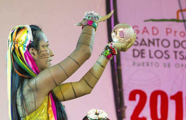 The Tsáchila Nation celebrates the traditional Festival of Kasama in Santo Domingo, Ecuador.