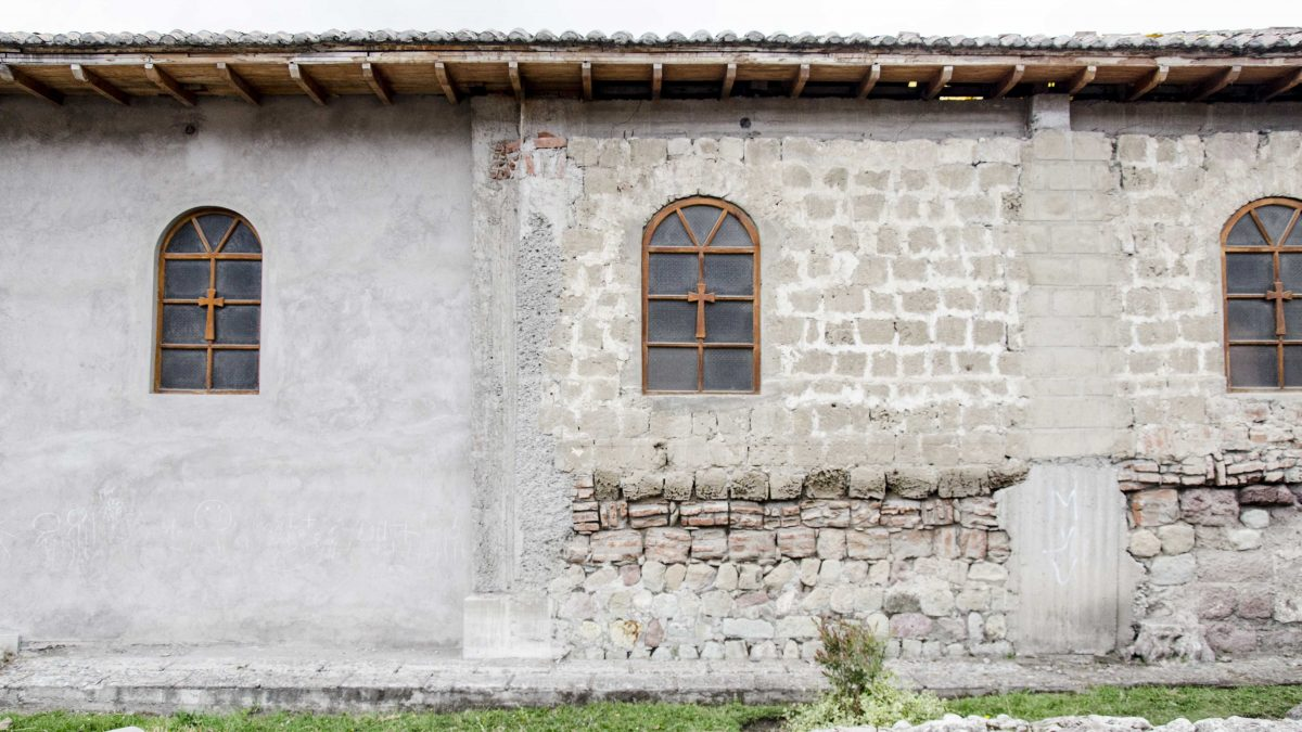 Original and modern walls of the Colonial Church in Sicalpa Viejo, Ecuador | ©Angela Drake / Not Your Average American