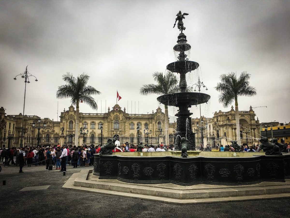 Fountain in the Plaza Mayor, Lima Peru | ©Laura Frasse