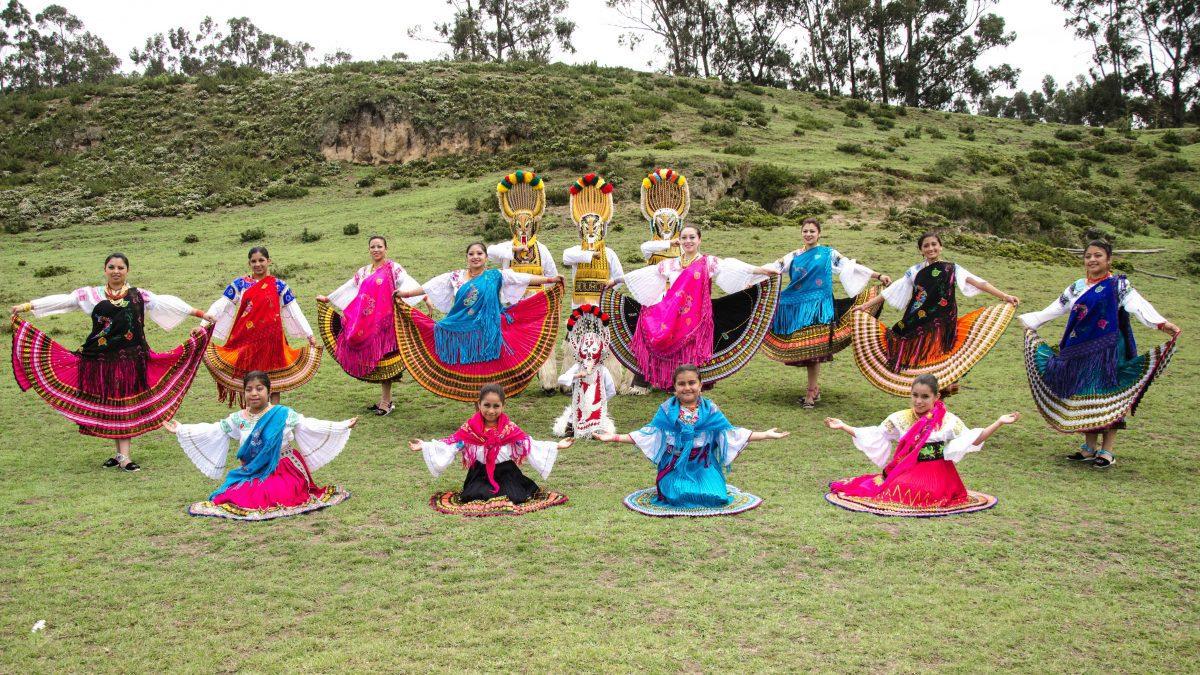 Dance Troupe at Mushak Nina Celebration, Cochasquí, Ecuador   ©Angela Drake