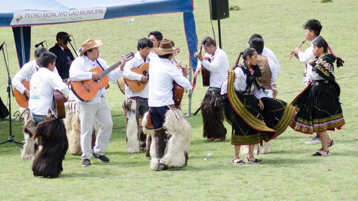 Band Plays Musica Andina at Mushak Nina Celebration, Cochasquí, Ecuador   ©Angela Drake