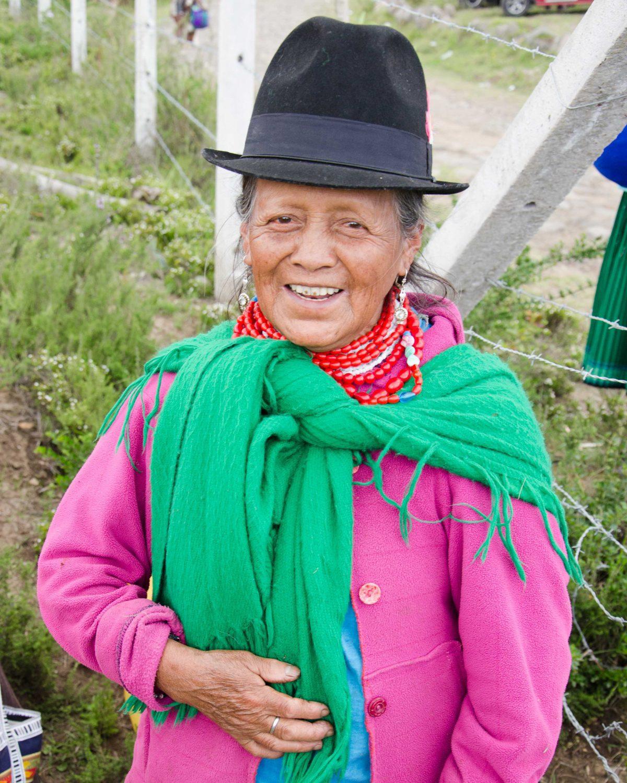 Andean Woman Asks For a Photo, Cochasqui, Ecuador   ©Angela Drake