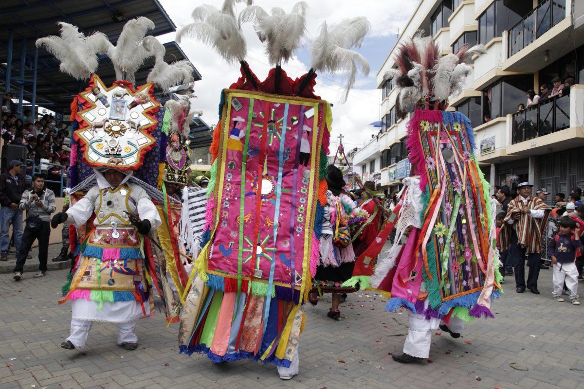 Chancellor Ricardo Patño acted as the main host for the Corpus Christi celebrationñ Pujulí, Ecuador. Photo: Xavier Granja Cedeño/Ministerio de Relaciones Exteriores; used with permission from the Canillería de Ecuador Flickr account.