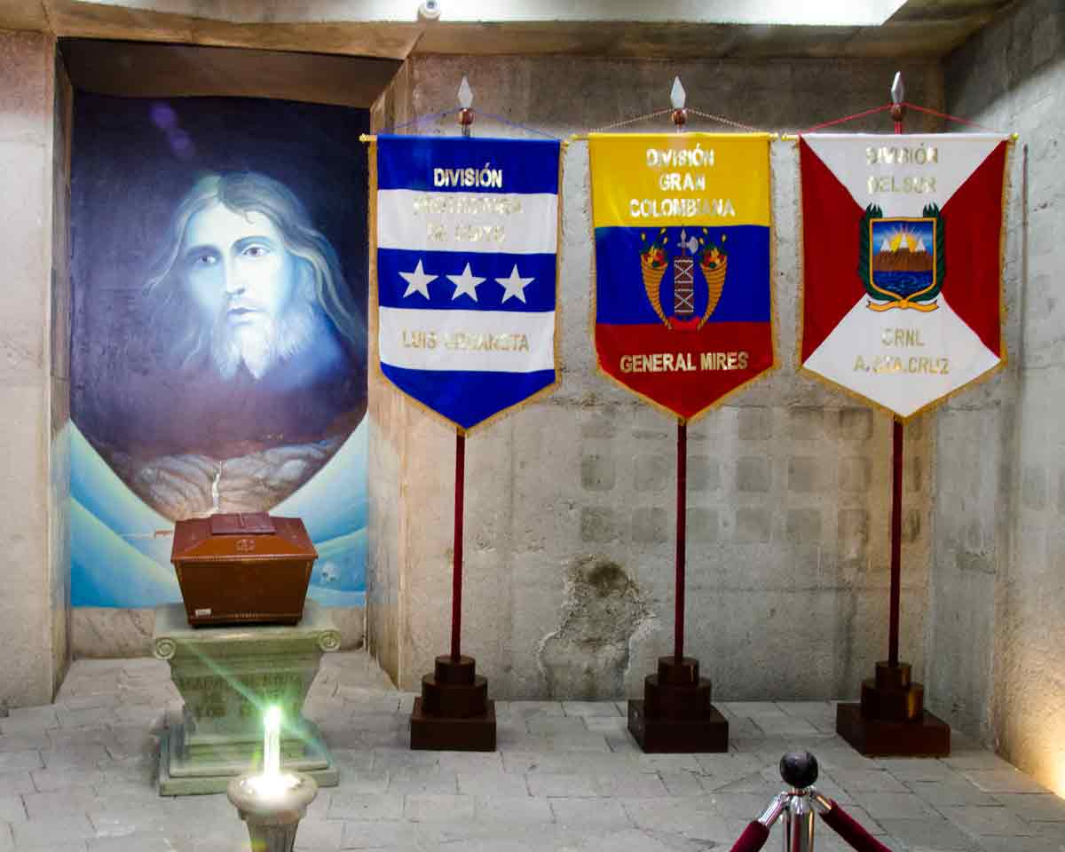 Inside the Templo de la Patria, Quito, Ecuador | ©Angela Drake
