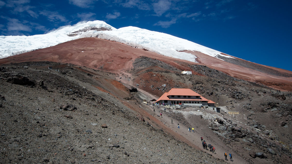 """Hiking """"the switchback trail"""" to the Cotopaxi Refugio 