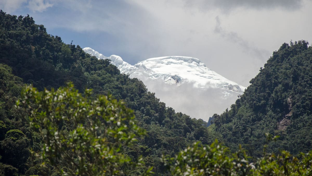 The Volcano Antisana photographed from a moving car, E-20, Ecuador | © Angela Drake