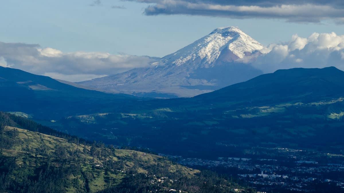 The Volcano Antisana photographed along the E-20 at Sector La Virgin, Ecuador | September 2015 | © Angela Drake