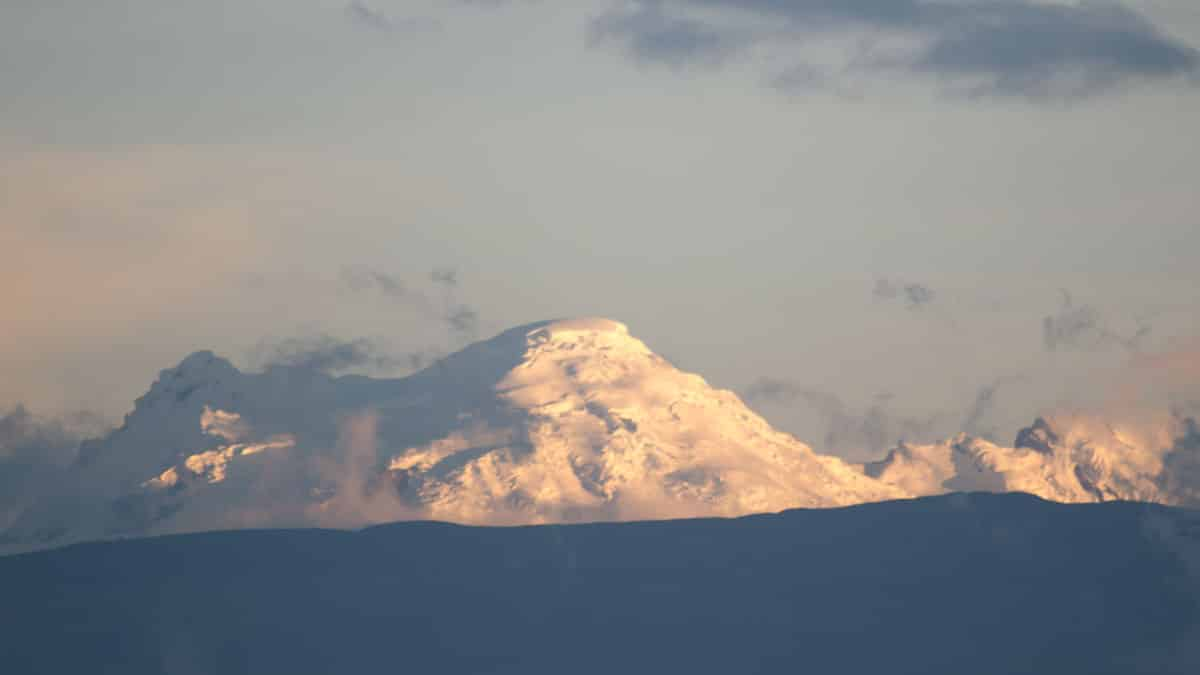 The Antisana Volcano photographed from North Quito, Ecuador | November 2013 | © Angela Drake