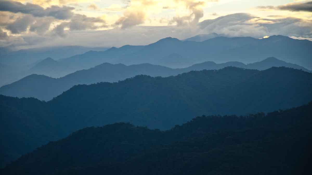 The Andes as seen on the West Slope Valley of Tandayapa, Bellavista Reserve, Ecuador | ©Angela Drake