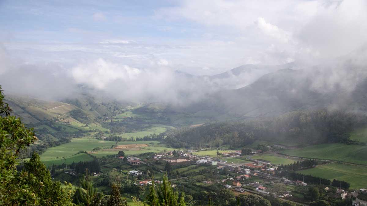 Nono, Ecuador as seen from the Ruta del Colibrí | ©Angela Drake