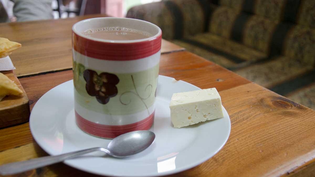 Chocolate con Queso, La Casa de La Empanada, Nono, Ecuador | ©Angela Drake