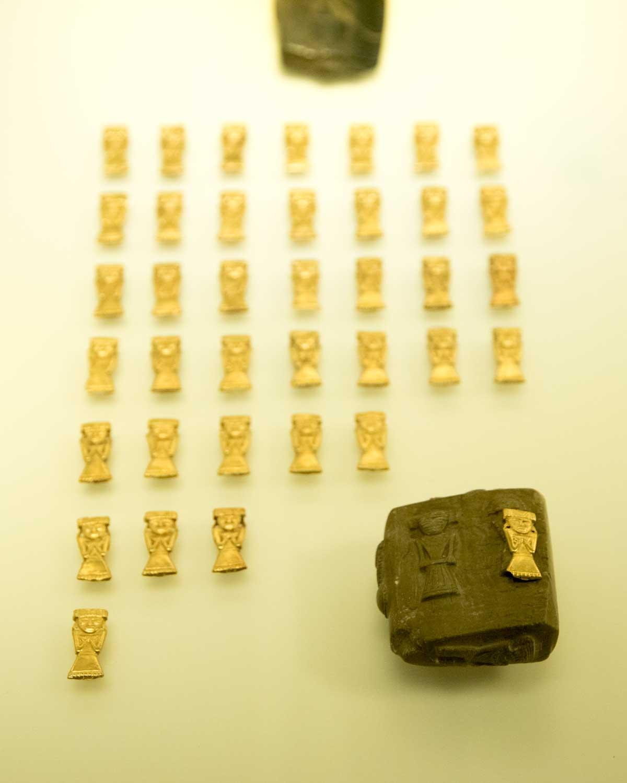 Gold Figures Made Using Wax Mold | Gold Museum Bogota | ©Angela Drake