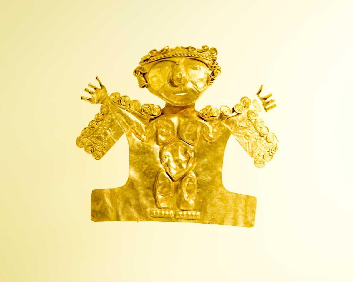 Figure Made Using Hammered Gold | Gold Museum Bogota | ©Angela Drake
