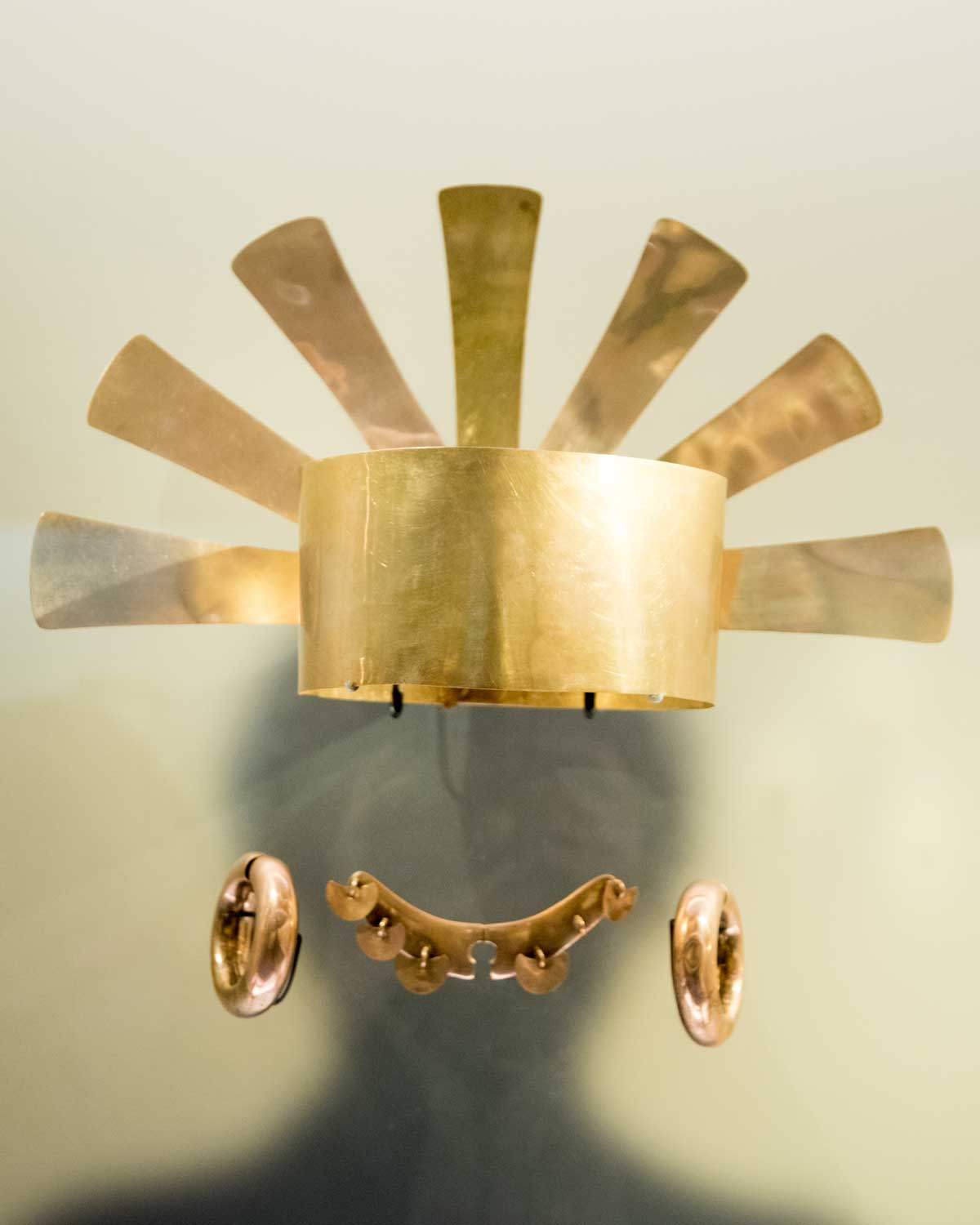Crown and Other Adornments | Gold Museum Bogota | ©Angela Drake