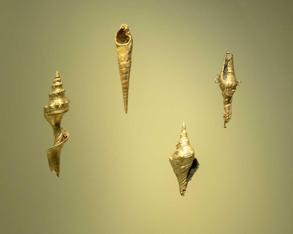 Gold Sea Shells | Gold Museum Bogota | ©Angela Drake