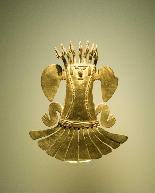 Shaman in Gold | Gold Museum Bogota | ©Angela Drake