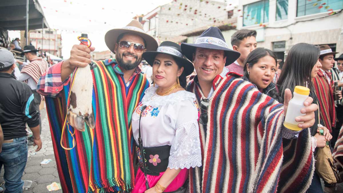 Los Loeros With La Ofrendera, Mama Negra, Latacunga, Ecuador | ©Angela Drake