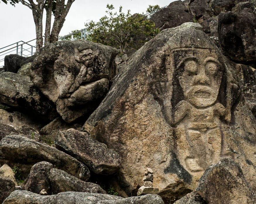 The most prominent petroglyph at La Chaquira, San Agustin, Colombia | ©Ernest Scott Drake