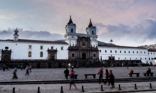 The Iglesia San Francisco in Historic Quito