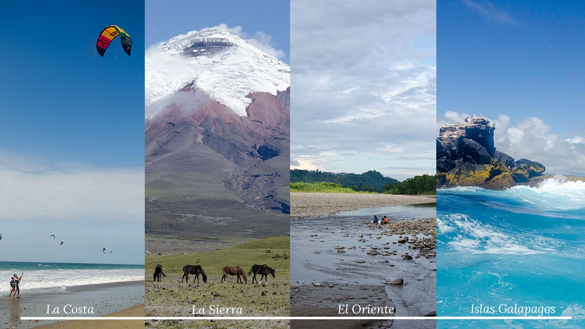 The Four Geographic Regions of Ecuador | ©Not Your Average American