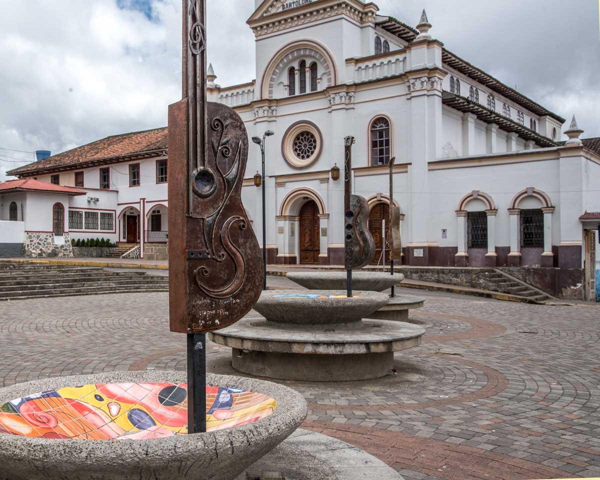 Main Plaza, San Bartolomé, Ecuador | ©Angela Drake