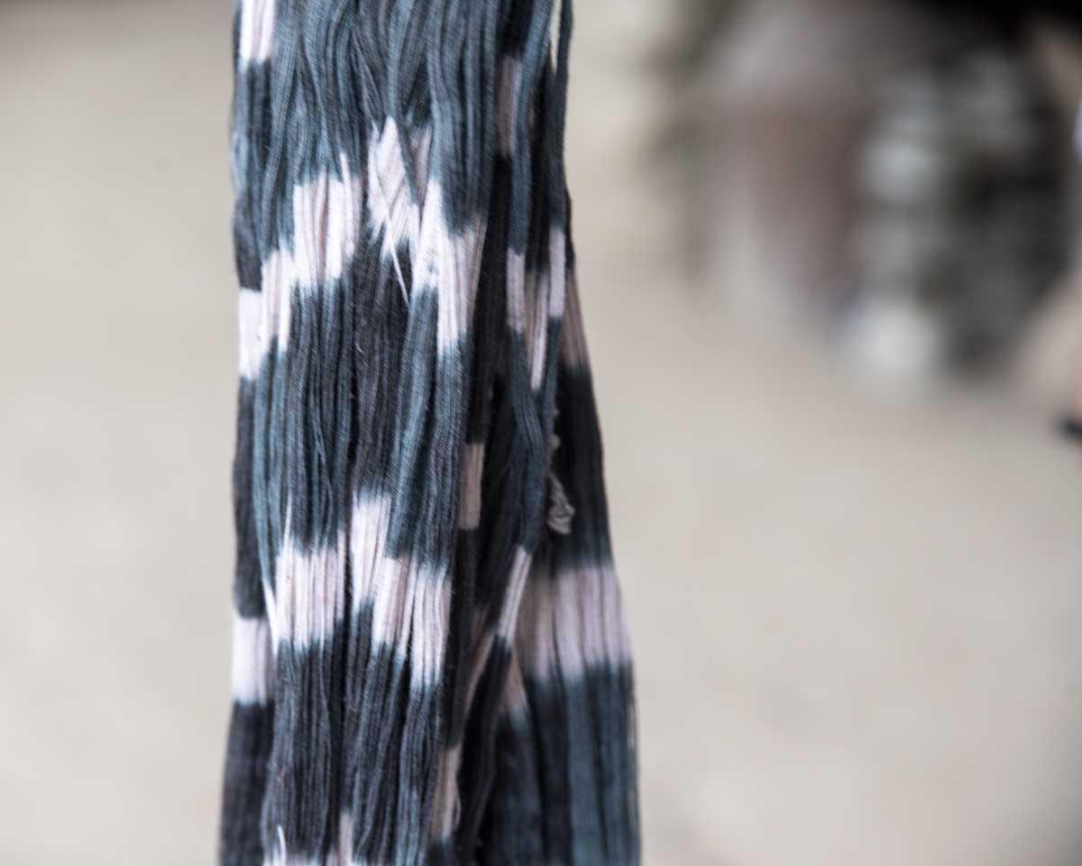 Dyed Fibers for a Macana Shawl; La Casa de la Macana, Gualaceo, Ecuador   ©Angela Drake