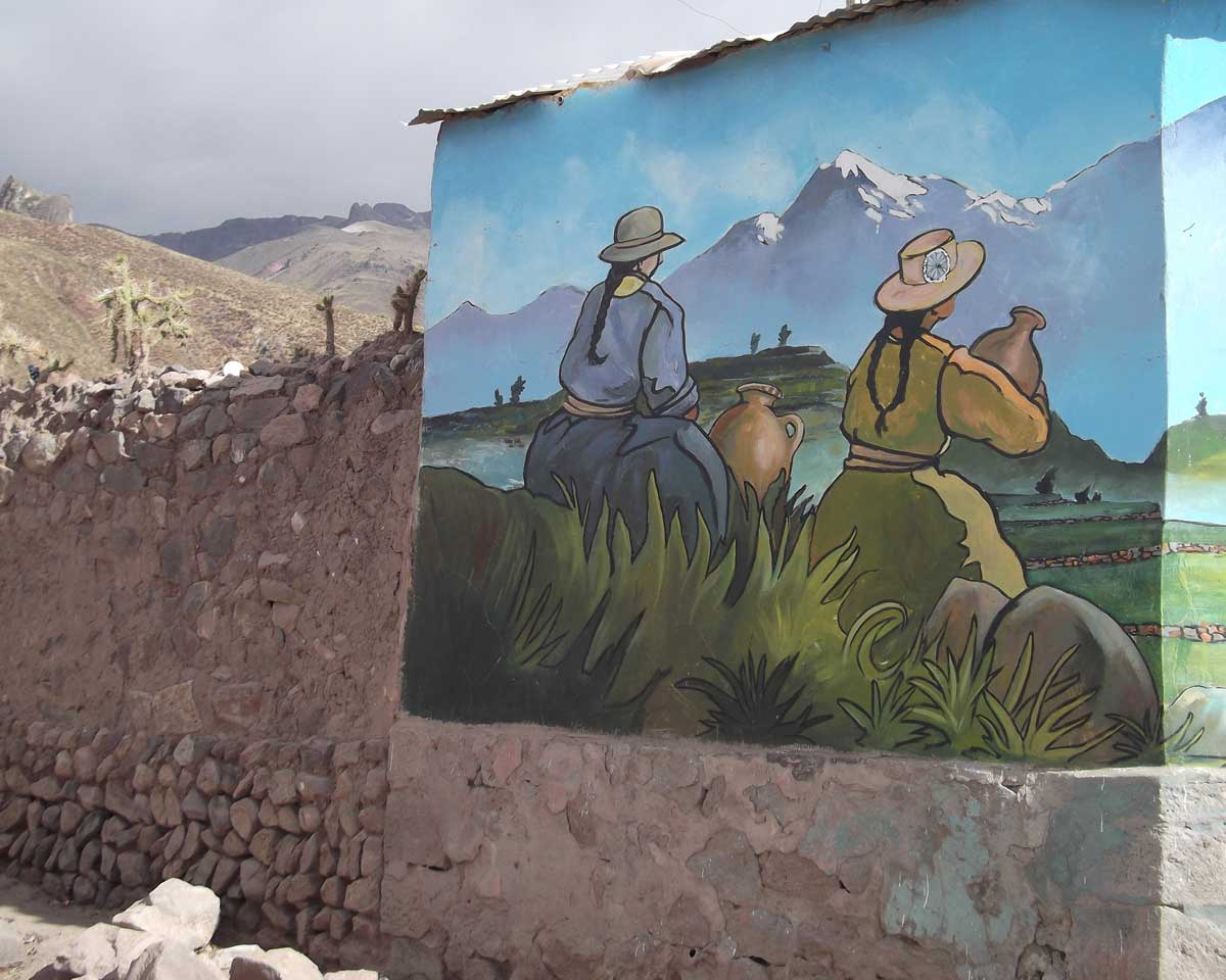 Mural on the Perimeter Wall, Chivay, Peru | ©Eleanor Hughes