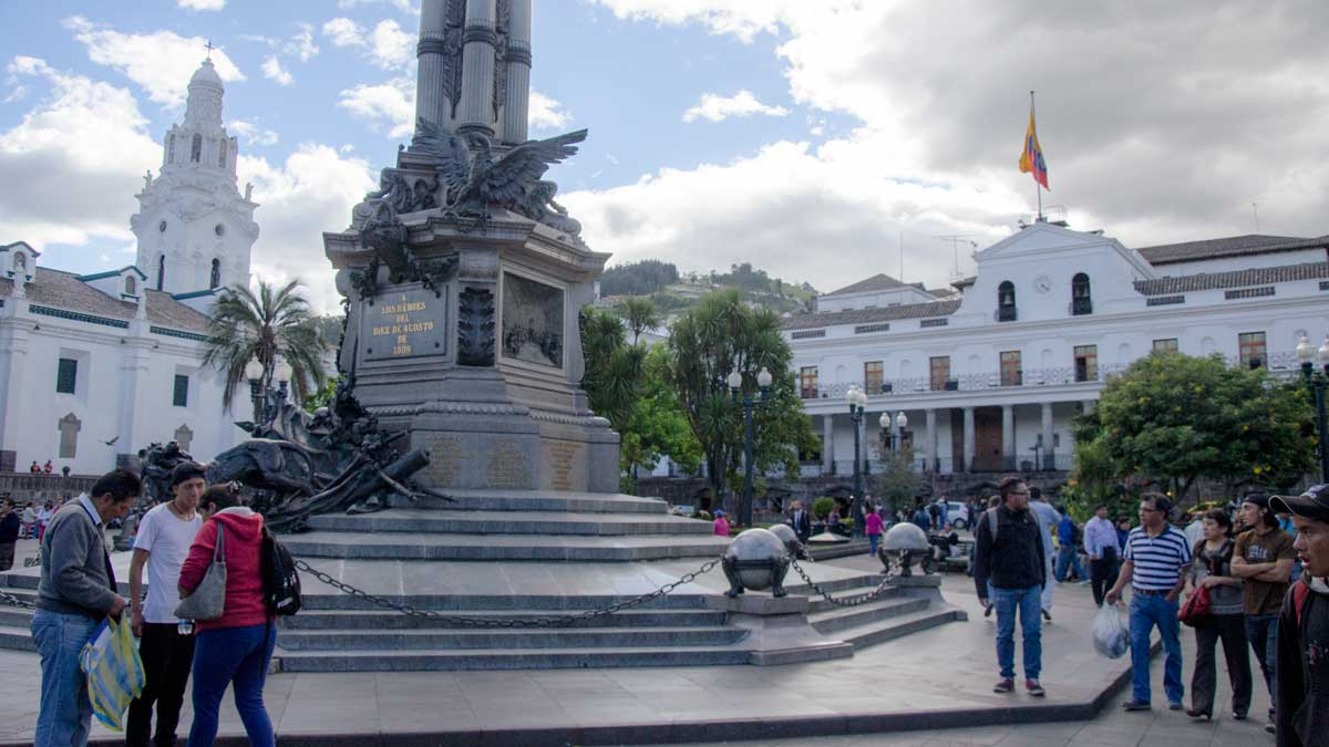 Statue to Commemorate the First Cry of Independence; Quito, Ecuador | ©Angela Drake