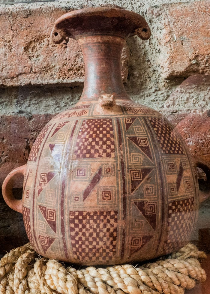Great example of Incan pottery. I have to wonder what those markings may mean, if anything? | ©Ernest Scott Drake