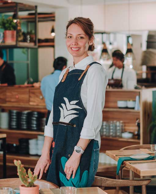 Executive Chef and Co-Founder Alejandra Espinoza, taken at SOMOS in Quito, Ecuador; August 2019 | Photo provided by SOMOS