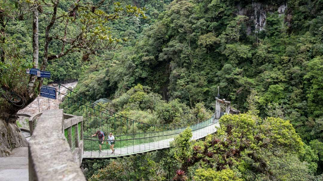 The Suspension Bridge at the Isla del Pailon Trail, Rio Verde, Ecuador   ©Angela Drake