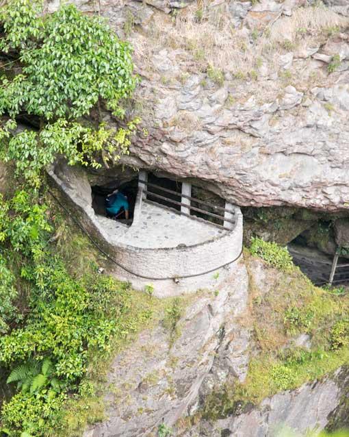 View of the Pailon del Diablo Tunnel, Rio Verde, Ecuador | ©Angela Drake