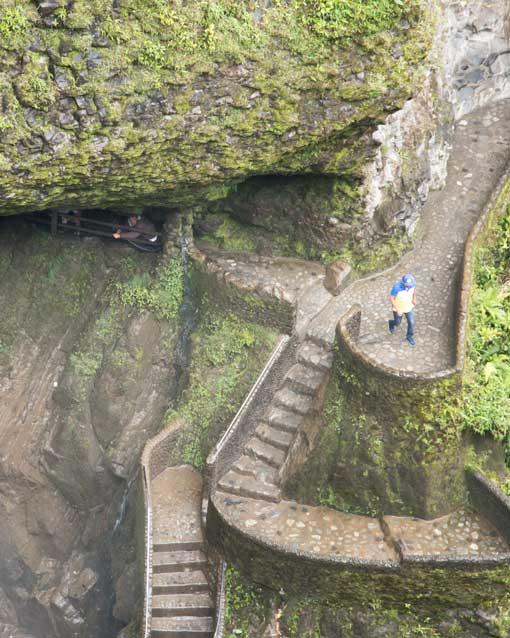 View of the Pailon del Diablo Steps and Trail, Rio Verde, Ecuador | ©Angela Drake