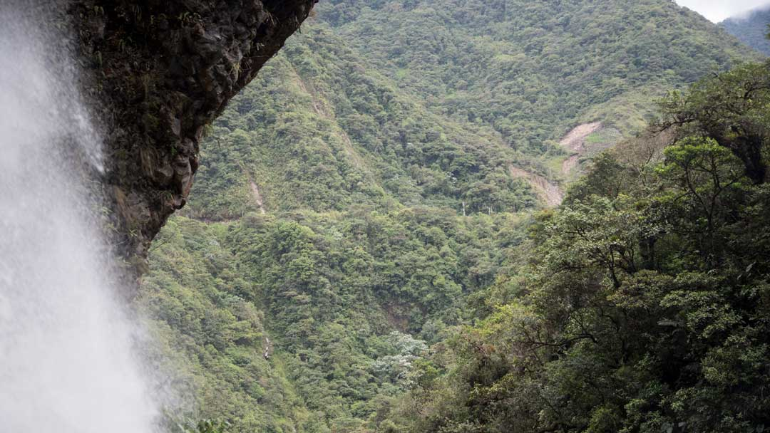 View from the Isla del Pailon Trail, Pailon del Diablo, Rio Verde, Ecuador   ©Angela Drake