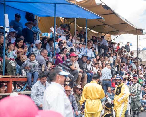 Seating in Tiers; Mama Negra Parade, Latacunga, Ecuador | ©Angela Drake