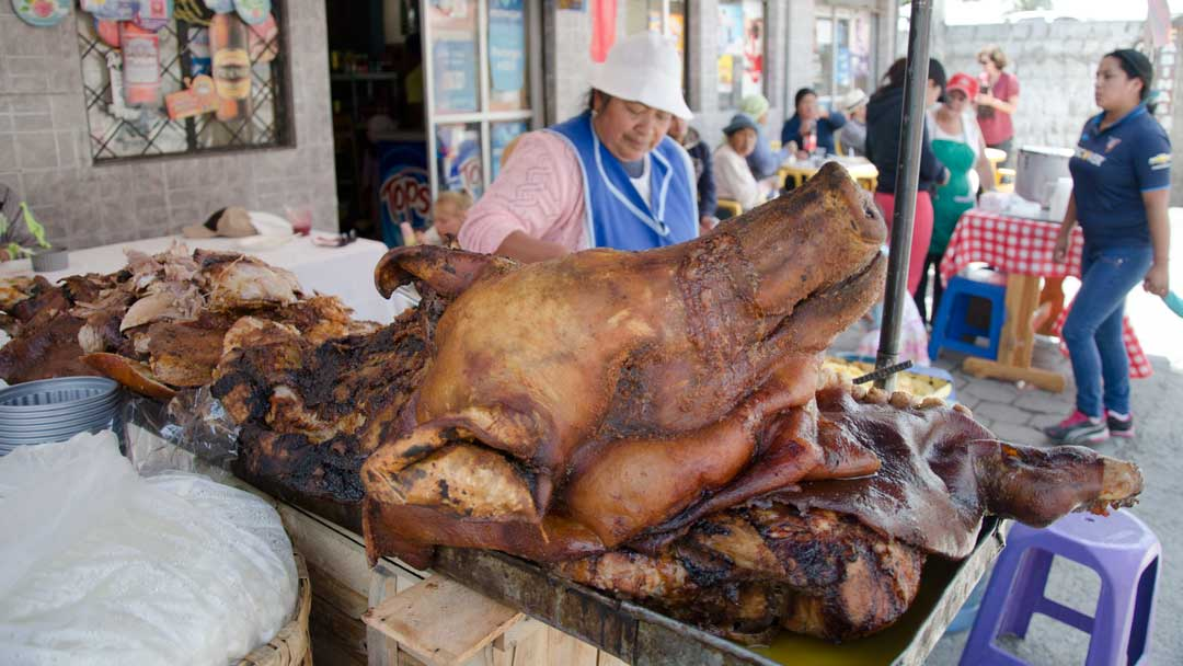 The Roast Pork Chef, Calderon, Pichincha, Ecuador | ©Angela Drake